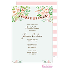 Beautiful Bridal Banner Invitation