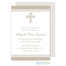 Victorian Cross Invitation - Edge Border - Pewter