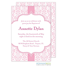 Floral Damask Invitation - Pink