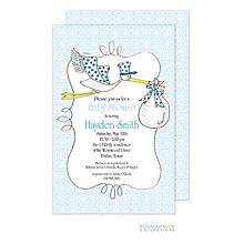 Stork Invitation - Blue
