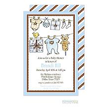 Gift Shower Invitation - Blue