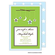 Baby Boy Mobile Invitation