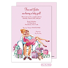 Kisses For Baby (Pink/Blonde) Invitation