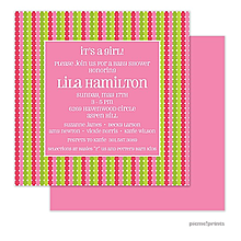 Twinkle Baby Bubblegum Square Invitation