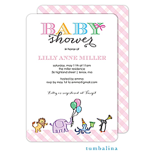 Animals Parade Pink Invitation