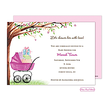 Beautiful Bassinet (Pink) Invitation