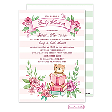 Book Baby Shower (Pink) Invitation