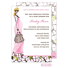 Fashionable Mom (Pink/Blonde) Invitation