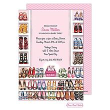 Stylish Shoe Closet (Pink) Invitation