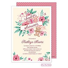 Vintage Baby Banner (Pink) Invitation