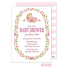 Wildflower Bassinet (Pink) Invitation