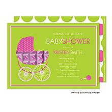 Beautiful Baby Buggy Invitation