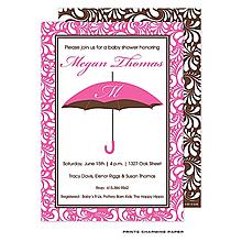 Pink Umbrella Initial Invitation