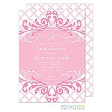 Scalloped Invitation - Pink