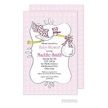 Stork Invitation - Pink