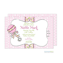 Rattle Me Baby Invitation - Pink