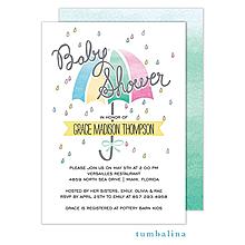 Watercolor Baby Shower Invitation