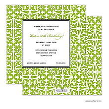 Pretty Pattern Grasshopper Square Invitation
