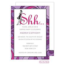 Lavender Surprise Invitation