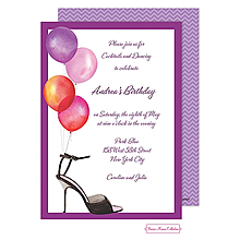 Stylish Party Balloons Invitation
