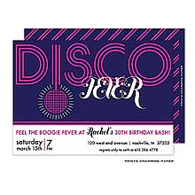 Disco Fever Invitation