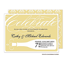 Gold Pop the Top Invitation