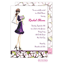 Floral Bride (Brunette) Invitation