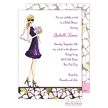 Floral Bride (Blonde) Invitation