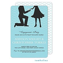 The proposal blue Engagement Party Invitations