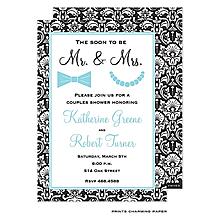 Couples Bridal Shower Invitations Chalkboard