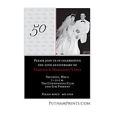 Black & Grey Photo Anniversary Invitation - Anniversary Invitation