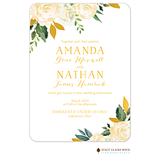 foil press invitation: Dreamy Blooms Foil Pressed Invitation
