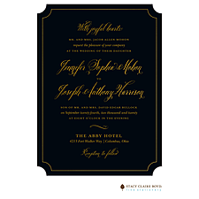 foil press invitation: Simply Shining Foil Pressed Invitation