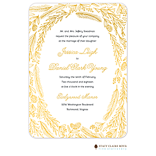 foil press invitation: Ring Of Love Foil Pressed Invitation