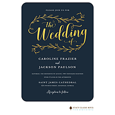 foil press invitation: Wedding Day Foil Pressed Invitation