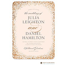 foil press invitation: Confetti Sparkle Foil Pressed Invitation