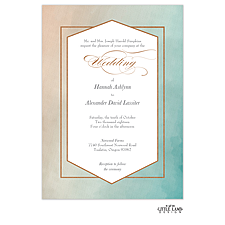foil press invitation: Metallic Ombre Foil-Pressed Invitation