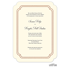 foil press invitation: Shining Double Frame Foil-Pressed Invitation