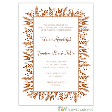 Best Selling Wedding Invitation: Foil Foliage Invitation