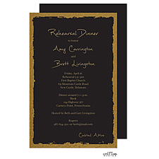 Anniversary Invitation: Brushed Edge Foil Invitation