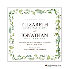 floral invitation: French Garden Wedding Invitation