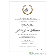 foil press invitation: Foil Crisp Wreath