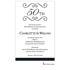 Anniversary Invitation: Anniversary Scroll Invitation