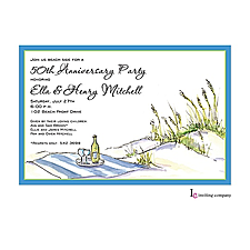 Anniversary Invitation: Relaxing Beach Invitation