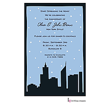 Anniversary Invitation: Silhouette City Invitation