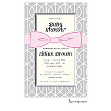 : Pink Bow Invitation