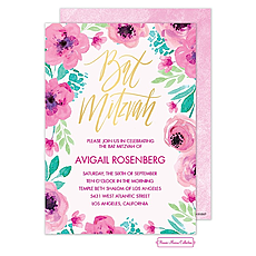 : Bat Mitzvah Blossoms Invitation