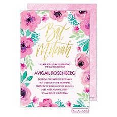 : Bat Mitzvah Blossoms Invitation