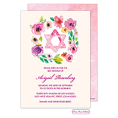 : Bat Mitzvah Star Invitation