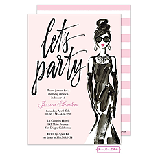 : Glamorous Party Girl Invitation
